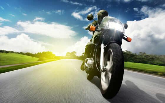 мотоциклы, мотоциклист, широкоформатные