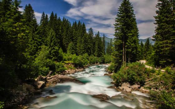 альпы, publish, город, кристально, фотографии, планеты, река, природы, разных,