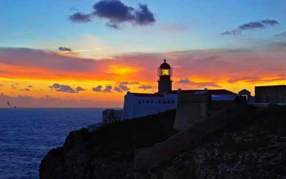 cabo, vicente, lighthouse