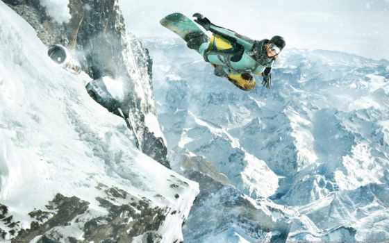 сноуборд, ssx, горы, девушка,