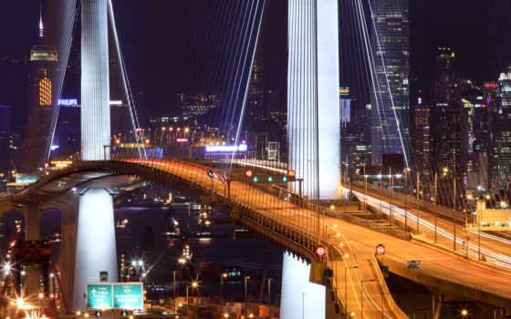 мост, hong, kong