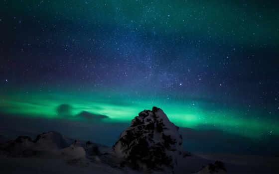 огни, iceland, northern, aurora, borealis,