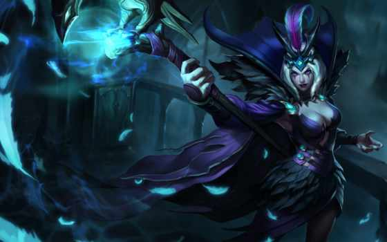 leblanc, league, legends, dei, corvi, figlia, skin,