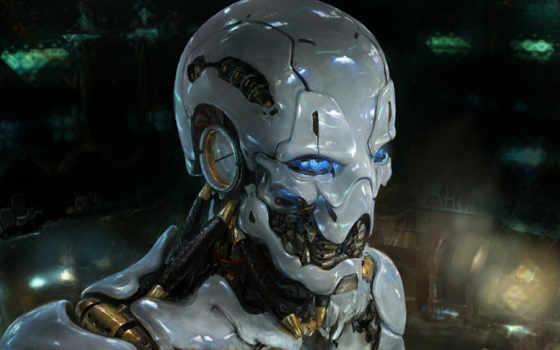 art, cyborg, sci, robot, красивые, фантастика, девушка,