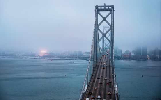 san, francisco, sana, мост, города, water, дома, море, california,