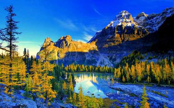 природа, landscape, гора, туман, ultrahd, лес, озеро,