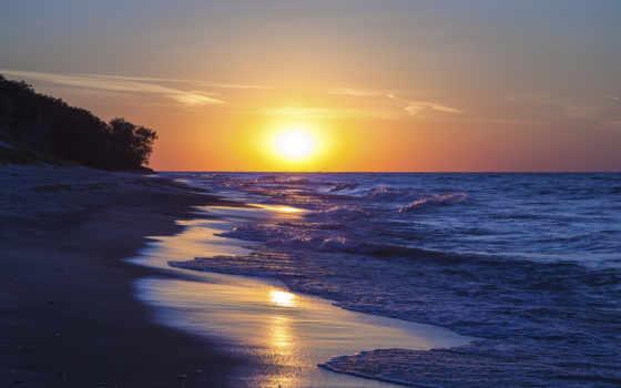 закат, озеро, michigan, пляж, indiana, dunes, об, pinterest, sunsets, park,