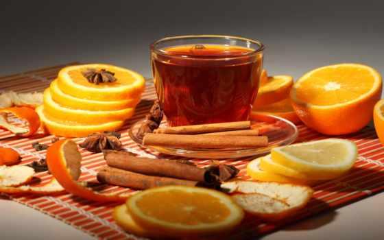 чая, апельсином, корицей, оранжевый, рецепт, напитки, cinnamon, ginger, чая,