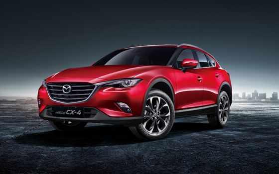 mazda, cx-4, красный, модель, автомобиля,