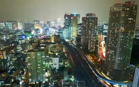 ночь, япония, картинка