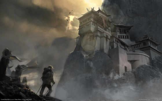 горы, cursed, путник, гора, храм, ступени, уданшань, игры,