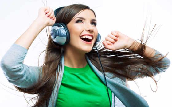 headphones, девушка, радость, музыка, восторг, women, models, женщин,
