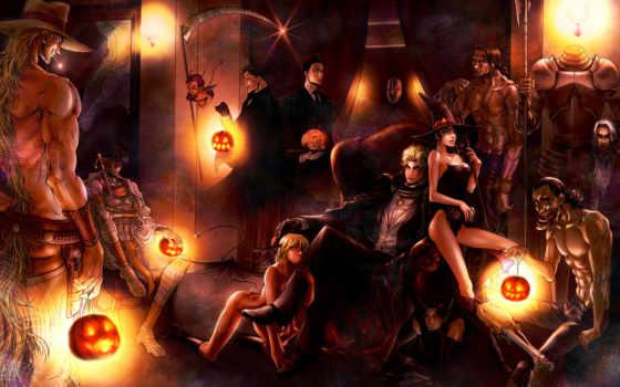 pantalla, fondos, brujas, noche, día, halloween, gratis, imagen, festivos, anime, descargar,