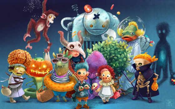 cartoon, illustration, halloween, характер, martha, клавиатура, shortcut