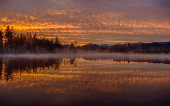 лес, туман, отражение, природа, озеро, germanii, озера, гора, water