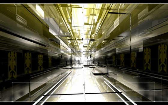 corridor, свет, графика, desktop, schedule,