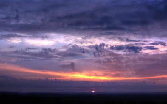 панорама, закат