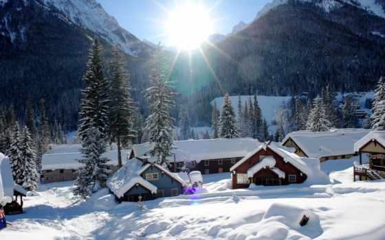 деревня, природа, winter