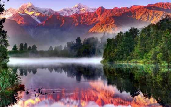 земле, рай, остров, south, новой, зеландии,