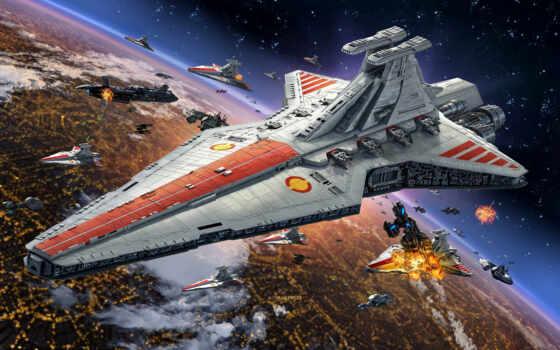 star, war, флот, модель, destroyer, commonwealth, game, revell, venator