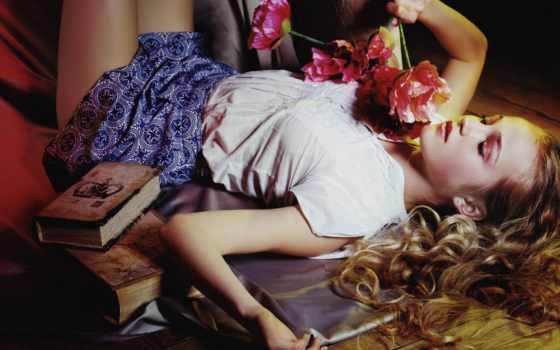 настроение, flowers, волосы