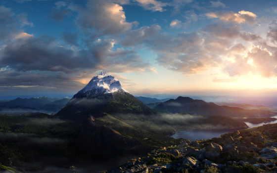 горы, горах, mountains, взгляд, вершины, гора, desktop, pictures, красивые,