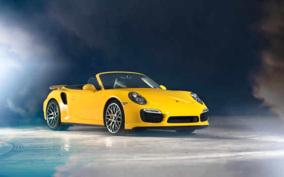 porsche, кабриолет, yellow, turbo, car, cabriolet, white, картинка,