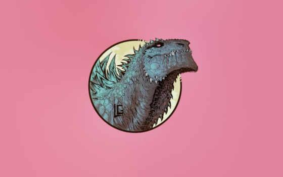 monster, art, леонардо, godzilla, тварь, cool, artist, чайка, фон, рисунок