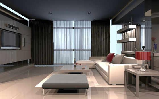 hai, тек, комната, design, интерьер, стиле, стиль, living, полки,