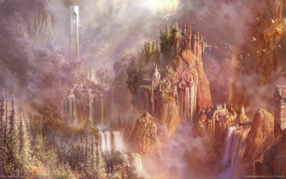 aion, landscape, водопад