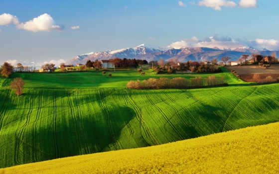 margin, italian, небо, рапс, весна, april, деревня,