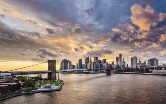 new, york, manhattan, нью, мост, город, бруклин,