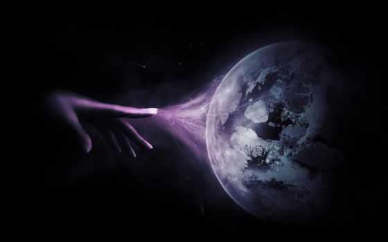 cosmos, звезды, рука, planet, rendering, линии, связь,