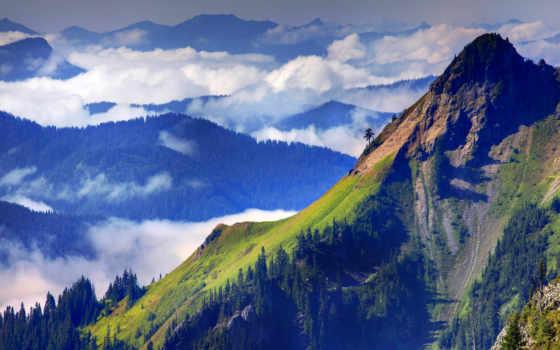 природа, горы, горная, горами, заоблачная, oblaka, со, distance, красивые,