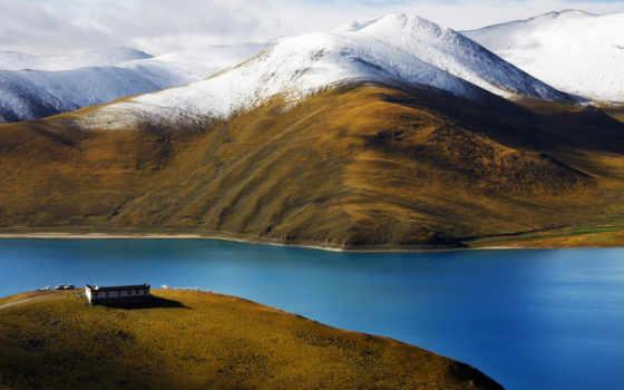 горы, тибет, река