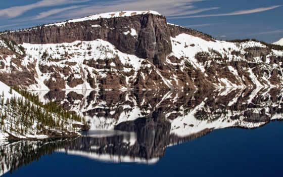 озеро, гора, картинка