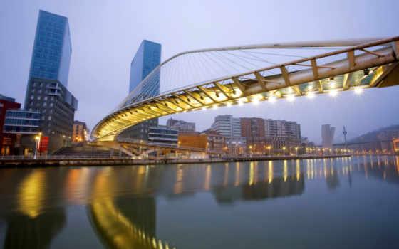 испания, bilbao, испании, басков, мосты,