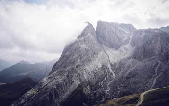 гора, небо, free, серый, stock, mountains, фото, под, landscape, пасмурный,