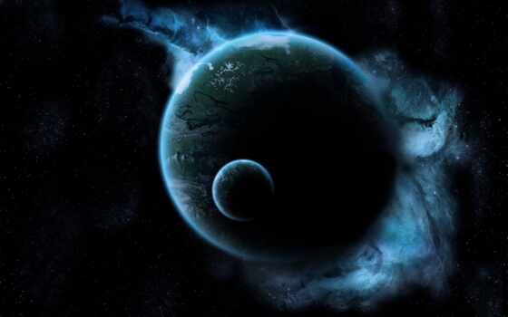 planet, star, луна, космос, land, darkness, свет, previe, свечение