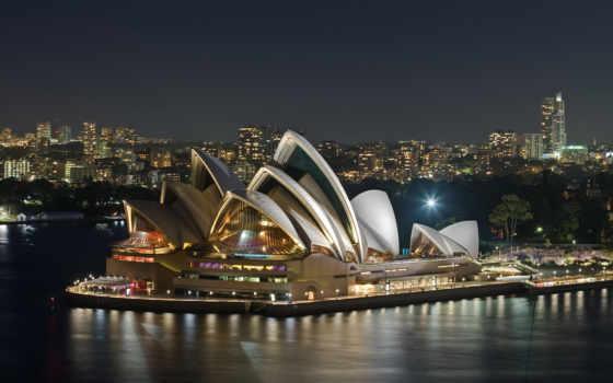 melbourne, австралия, австралии, сидней, город, символ,