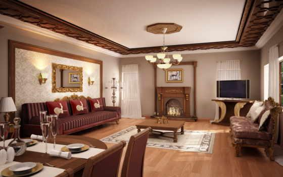 interer, dizain, потолок