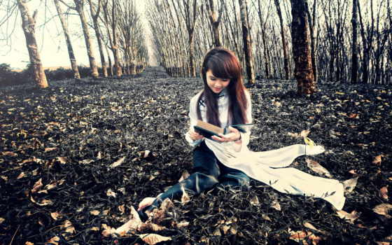 reading, девушка, книга, desktop, почти, лет,