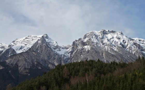 гора, snowy, вершины, top, free,
