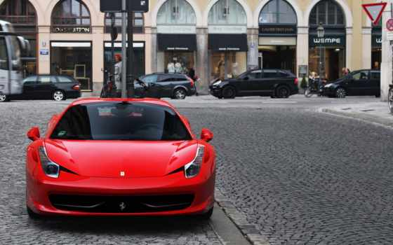ferrari, italia, red, спереди, яndex, красные, взгляд, card, коллекциях,