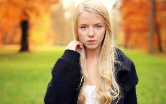 blonde, eyes, women, модель, flowers,