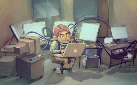 хакер? программист, компьютер