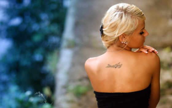 спины, со, блондинок