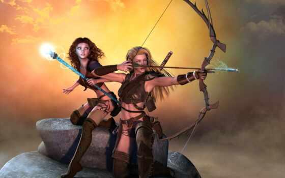 archer, лук, девушка