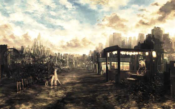 постапокалипсис, будущее, развалины