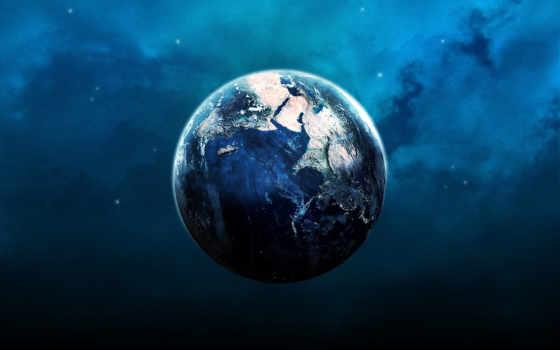 красивые, землю, land, пасть, спутника, мяч, planet,